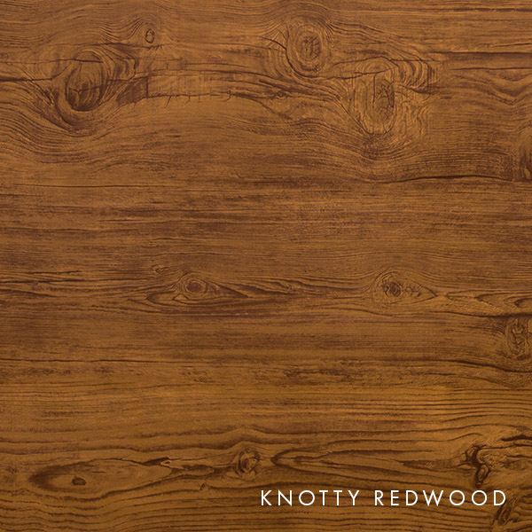 lux knotty woodgrain redwood