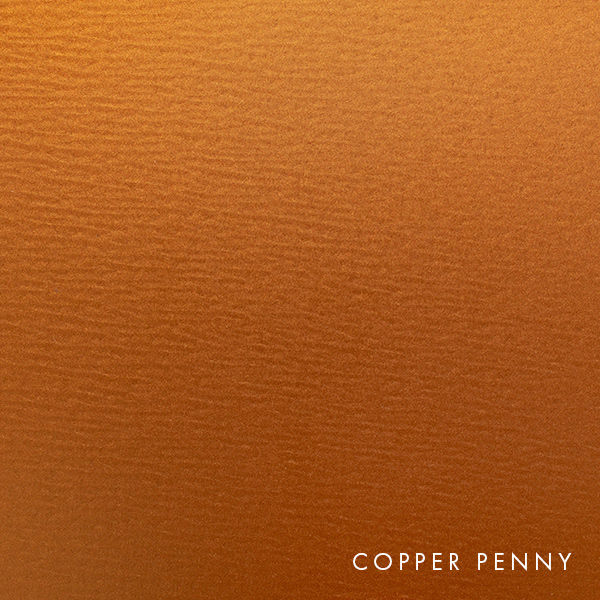 lux panel metallic swatch copper penny