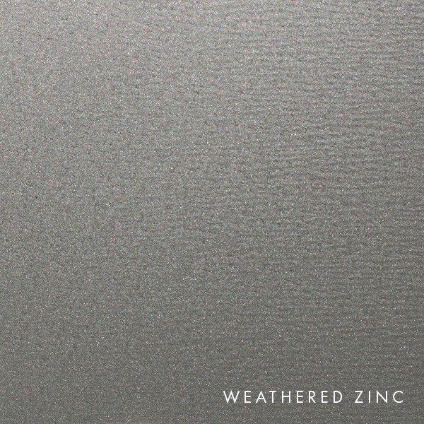 lux panel metallic swatch weathered zinc